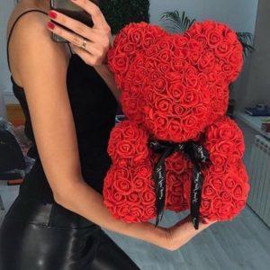 Αρκουδάκι από τεχνητά τριαντάφυλλα - Teddy Bear Roses